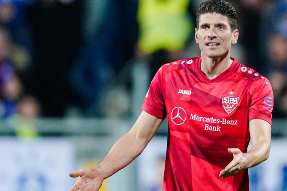 Mario Gomez, seine Zukunft beim VfB Stuttgart ist offen.