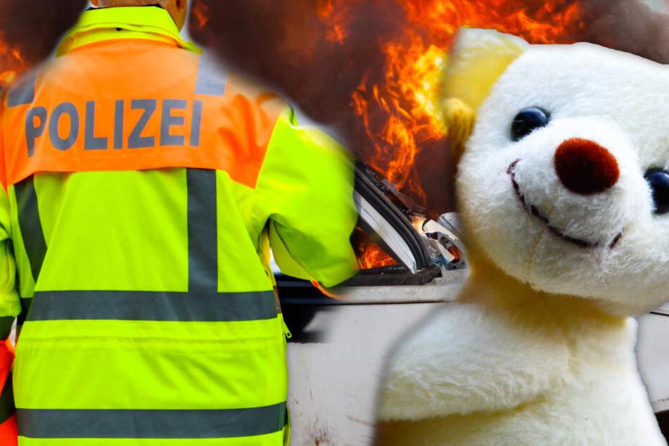 Kuscheltiere zweier Mädchen (2 und 5) verbrennen in Auto: Reaktion der Polizei ist rührend