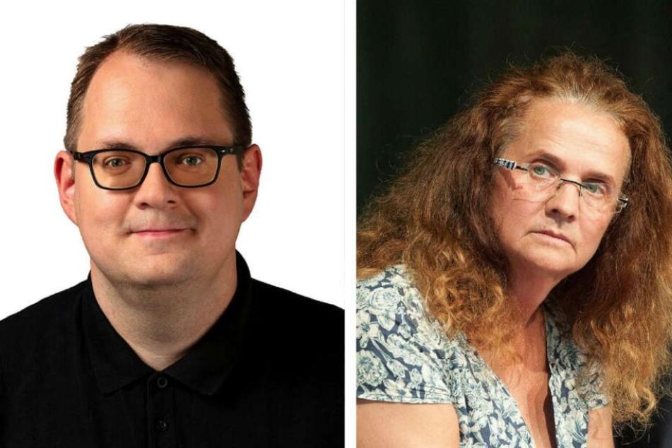 Sören Pellmann und Cornelia Falken.
