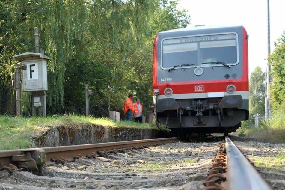 Lokführer meldet Leichenteile an der Bahnstrecke