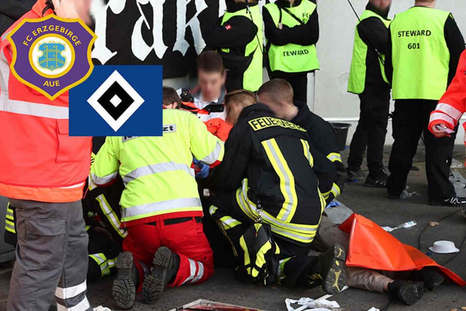 HSV-Fan Thorsten stürzte in Aue fünf Meter in die Tiefe: So geht es ihm jetzt