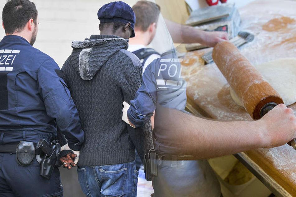 Zu laut gekocht: Nudelholz-Attacke in Flüchtlingsheim