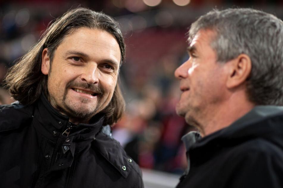 Friedhelm Funkel (66, rechts), Ex-Trainer von Fortuna Düsseldorf mit Sportvorstand Lutz Pfannenstiel.