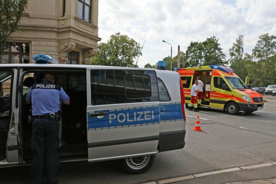 Der Crash passierte auf der Reichenbacher Straße in Zwickau.