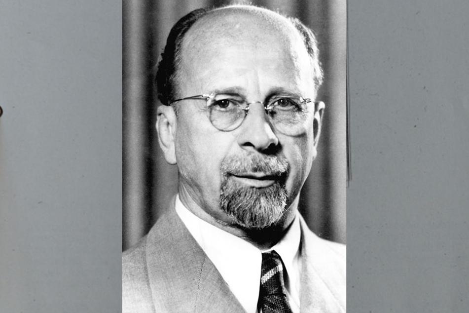 Walter Ulbricht (1893-1973) sollte durch den Schriftzug angegriffen werden.