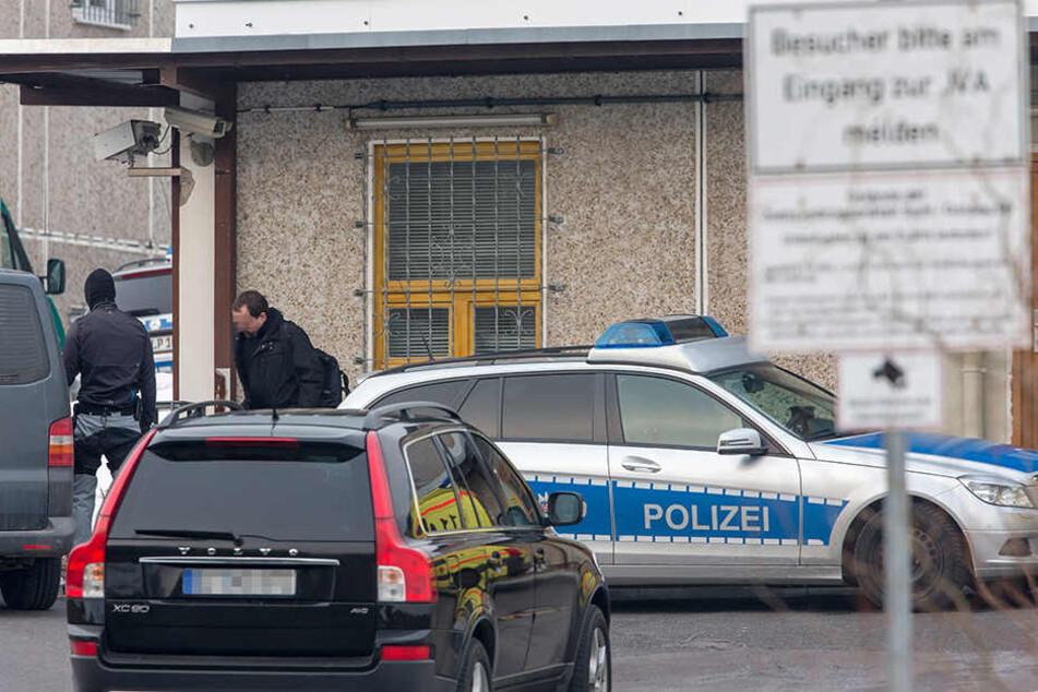 Der Eingang der Justizvollzugsanstalt in Suhl-Goldlauter.