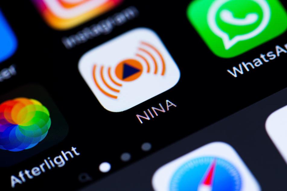"""Nicht alle Nutzer der Warn-App """"Nina"""" wurden am Donnerstag erreicht (Symbolbild)."""
