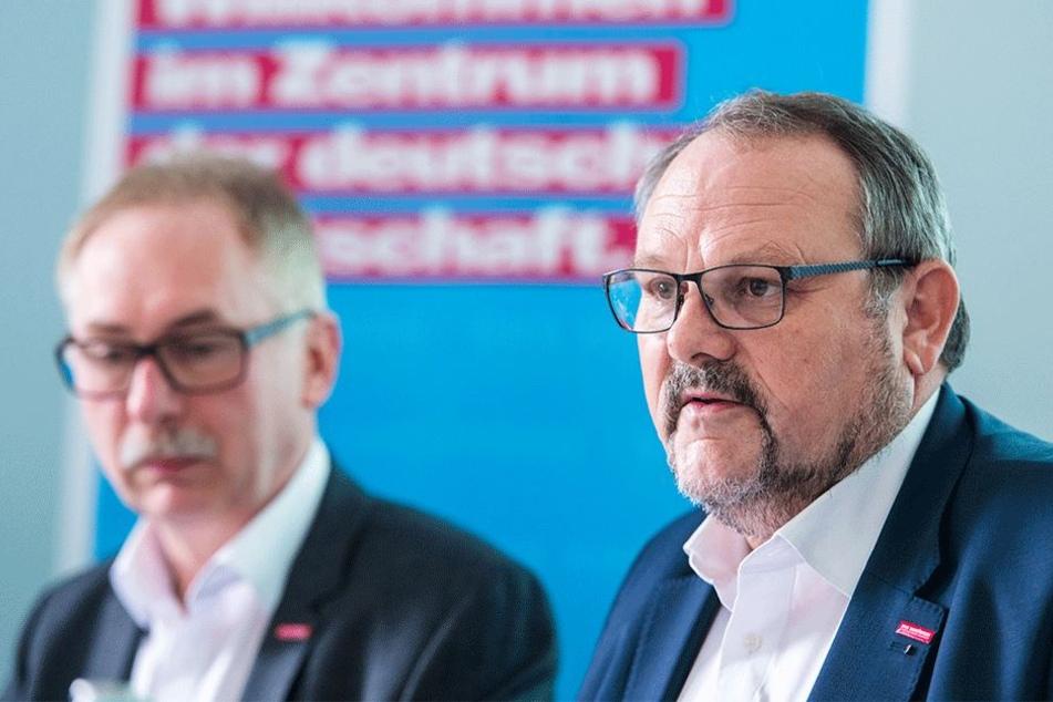 HWK-Präsident Frank Wagner (59) präsentierte Freitag den Geschäftsklimaindex.