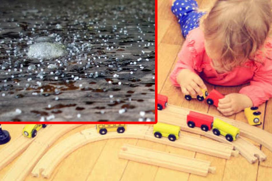 Das Mädchen hatte auf dem Teppich gespielt, auf dem das Granulat ausgekippt wurde. (Symbolbild)