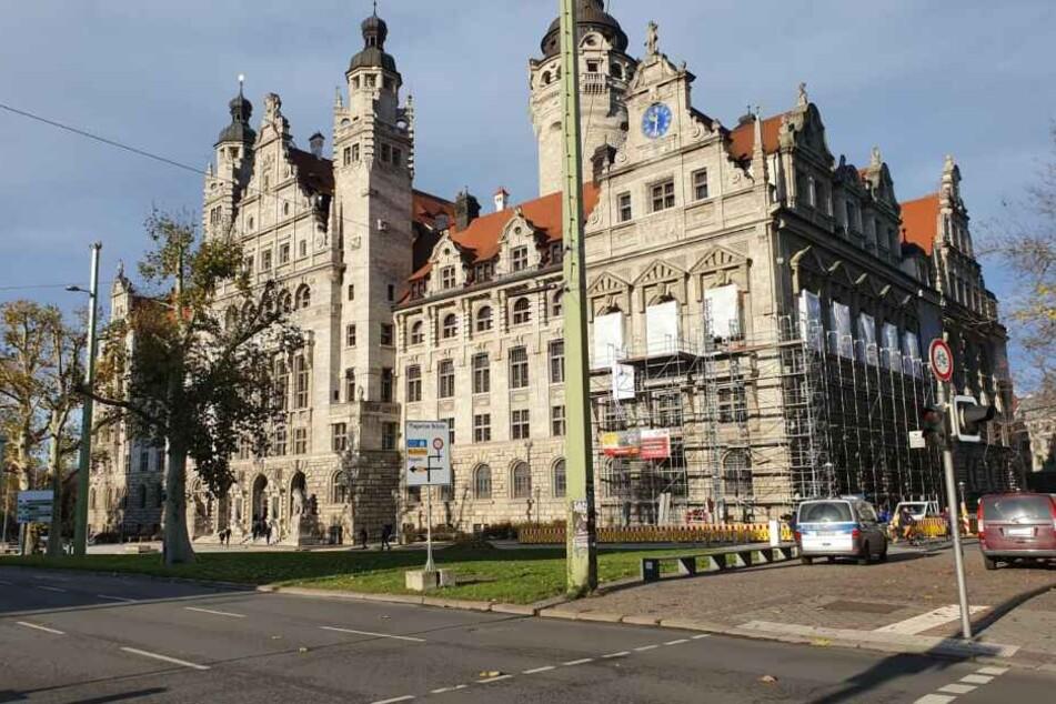 Im Leipziger Rathaus soll derzeit eine Bedrohungslage bestehen.