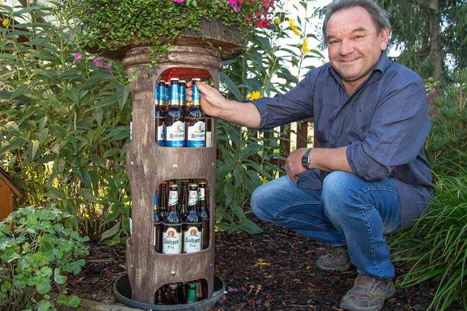 Prost! Tüftler baut unterirdischen Bier-Kühlschrank in seinem Garten