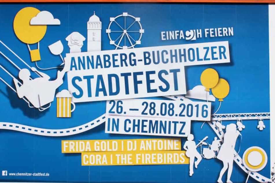 Annaberg-Buchholz findet die Chemnitzer Stadtfest-Werbung nicht lustig.