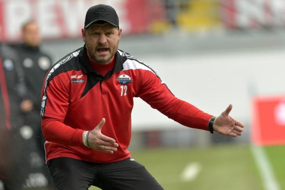 Trainer Steffen Baumgart erwartet am Samstag vollen Einsatz von seinen Jungs.