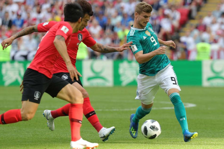 Timo Werner (r.) war mit Deutschland bereits in der Gruppenphase ausgeschieden.