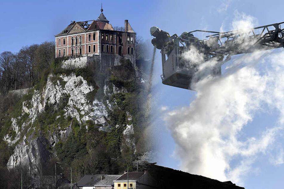Großbrand in Schloss! Bewohner schwebt in Lebensgefahr