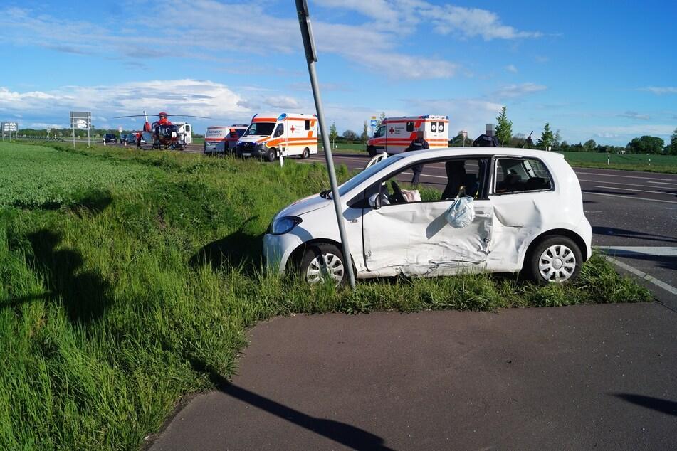 Der Fahrer (86) des Skoda war vermutlich bei Rot über die Ampel gefahren.