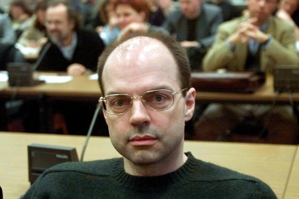 Thomas Drach (heute 60), Drahtzieher der Reemtsma-Entführung, im Dezember 2000 im Landgericht auf der Anklagebank.