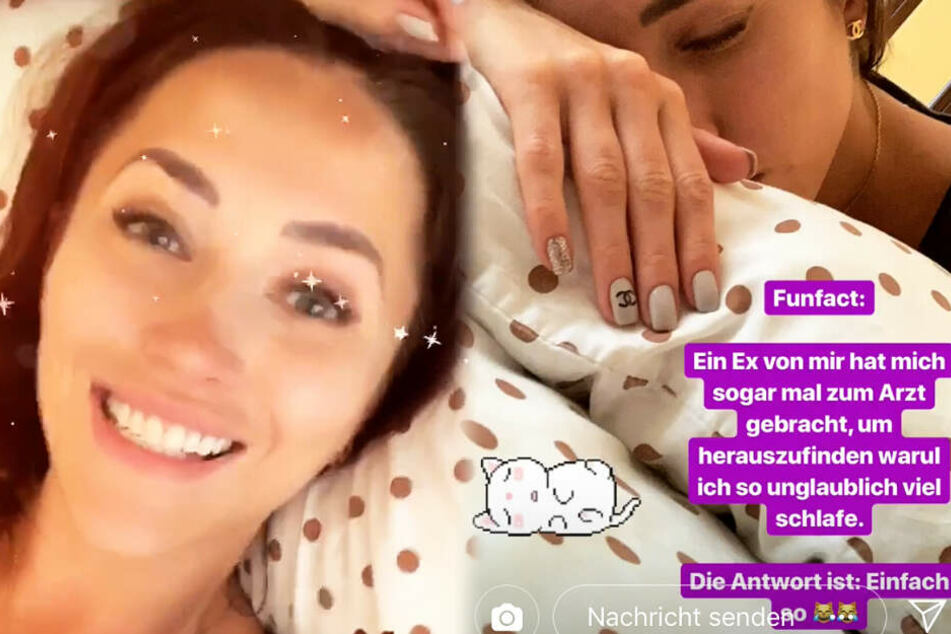 Die Montage zeigt zwei Screenshots aus den Instagram-Storys von Anastasiya Avilova.