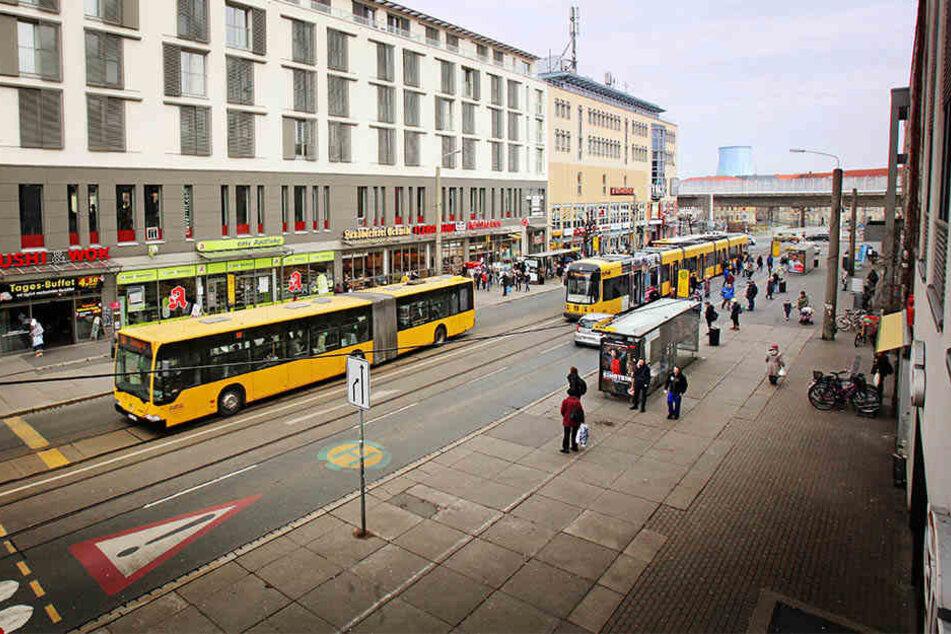 Die Kesselsdorfer Straße bekommt eine Zentralhaltestelle.