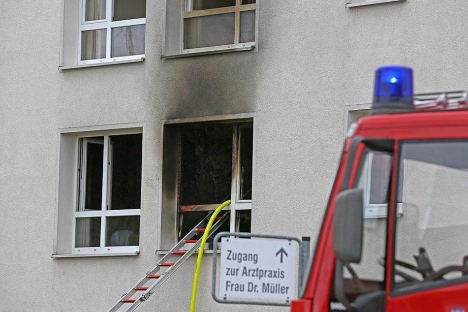 Das Zimmer im ersten Stock brannte komplett aus.