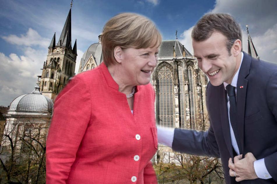 Bundeskanzlerin Angela Merkel und mehrere europäische Regierungschefs werden zur Preisverleihung nach Aachen reisen.