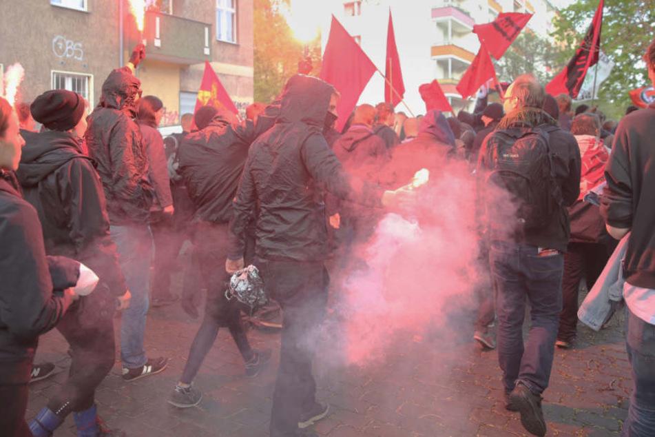 Polizei bereit für erste Aggro-Demo in Wedding: Linke Gruppen gegen AfD, Kapitalismus und hohe Mieten