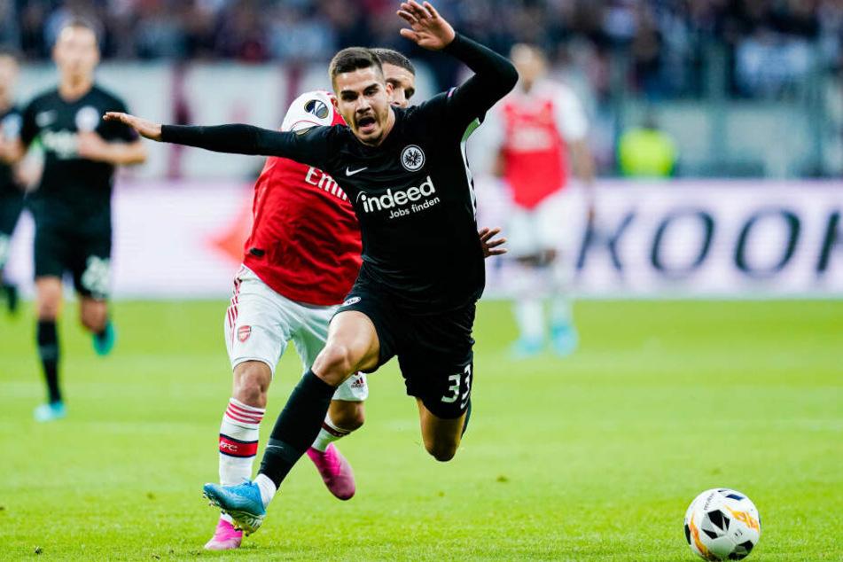 Auch der gut aufgelegte André Silva konnte die Eintracht nicht vor der Niederlage bewahren.