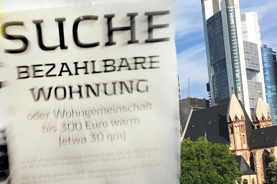 Besonders der Ballungsraum Frankfurt-Rhein-Main ist von der Wohnungsnot betroffen.