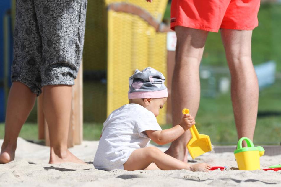 Der Sand ist extrafein für Babys.