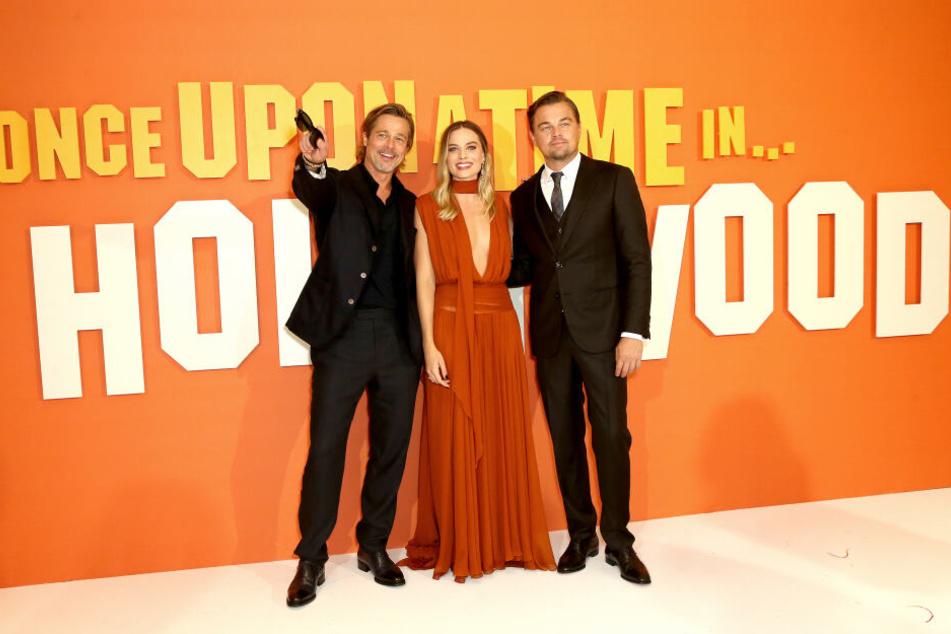 Star-Besetzung: Brad Pitt, Leonardo DiCaprio und Margot Robbie spielen im neusten Tarantino-Streifen mit.