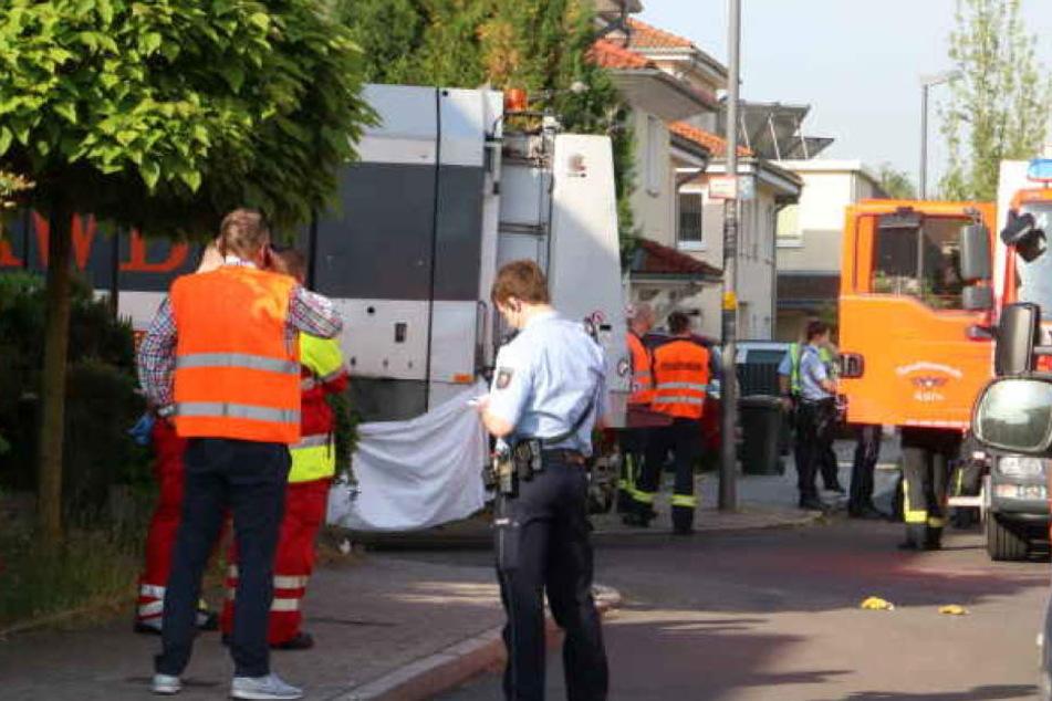 Der Unfall-Tatort im Mai 2018 in Köln-Widdersdorf.