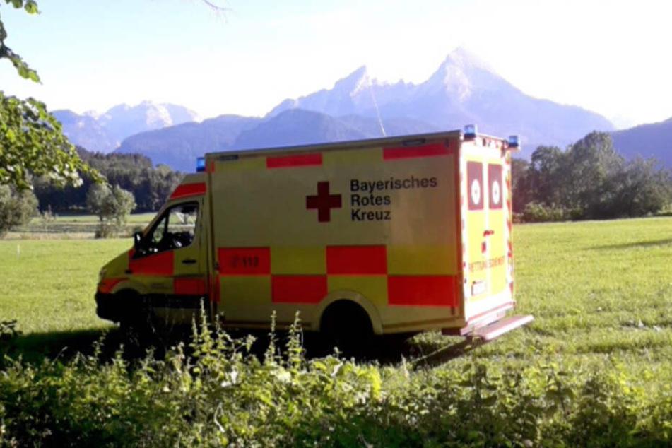 Das Berchtesgadener Rote Kreuz versorgte die Frau notärztlich.