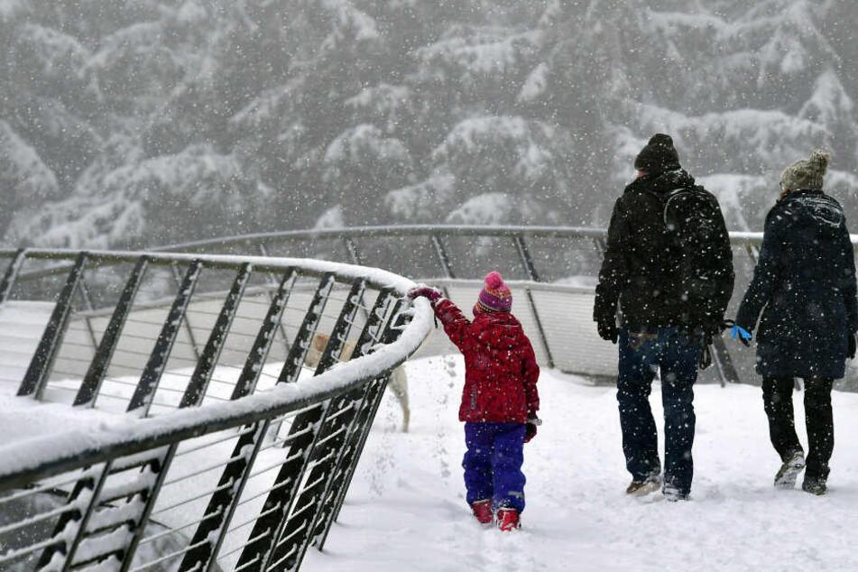 Auch zum Wandern lädt die verschneite Region ein. (Symbolbild)