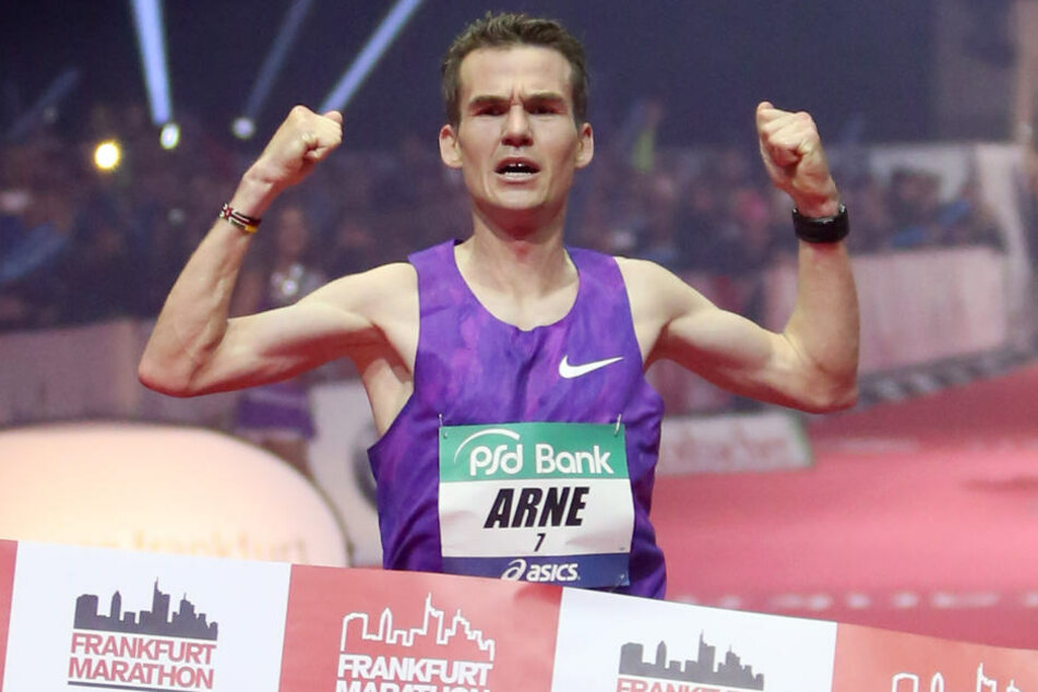 Gabius bei seinem Rekordlauf 2015.
