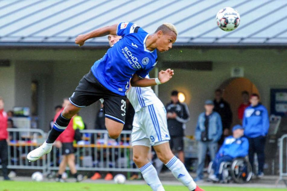 Roberto Massimo schoss das 1:0 für den DSC im Test gegen den tschechischen Erstligisten FC Banik Ostrava.