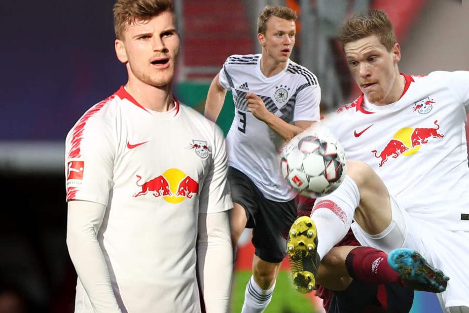 V.l.: Timo Werner (23), Lukas Klostermann (22) und Marcel Halstenberg (27) wurden von Jogi Löw in die Auswahl des DFB-Teams nominiert.