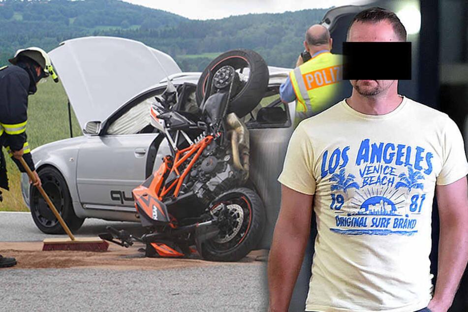 Ist Audi-Fahrer am Unglück schuld? Drama um toten Biker vor Gericht