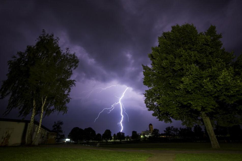 In Unterfranken schlug der Blitz deutschlandweit am häufigsten ein. (Archivbild)