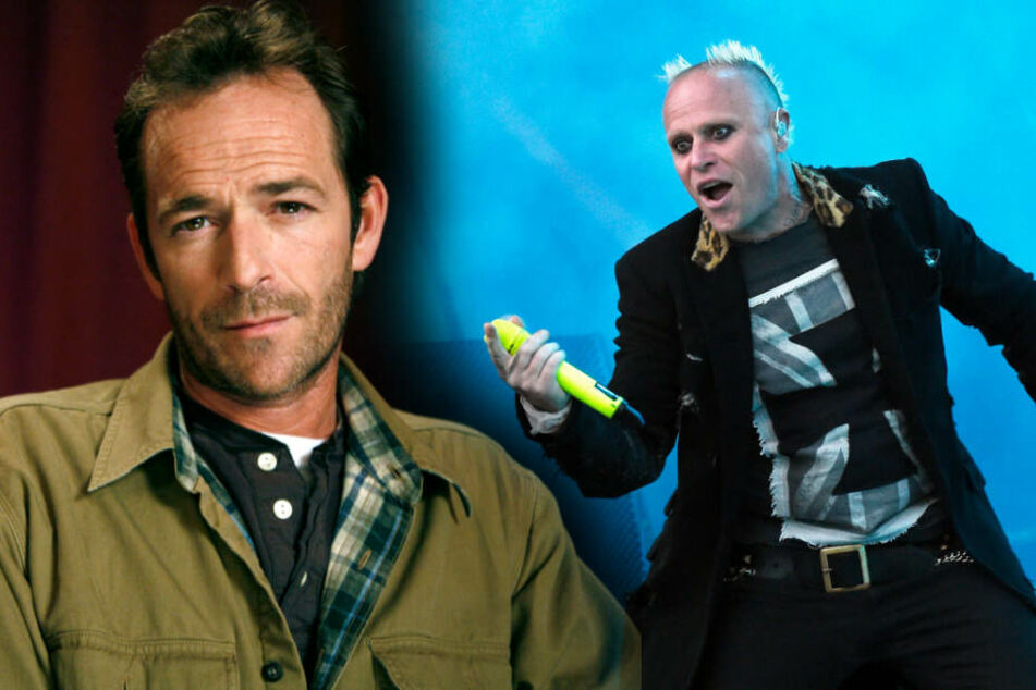 Luke Perry (l) und Keith Flint.