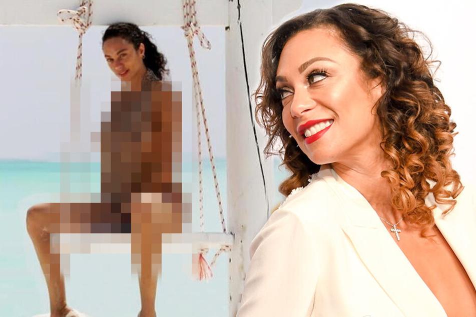 Bikini-Oberteil vergessen: Lilly Becker posiert mal wieder halbnackt