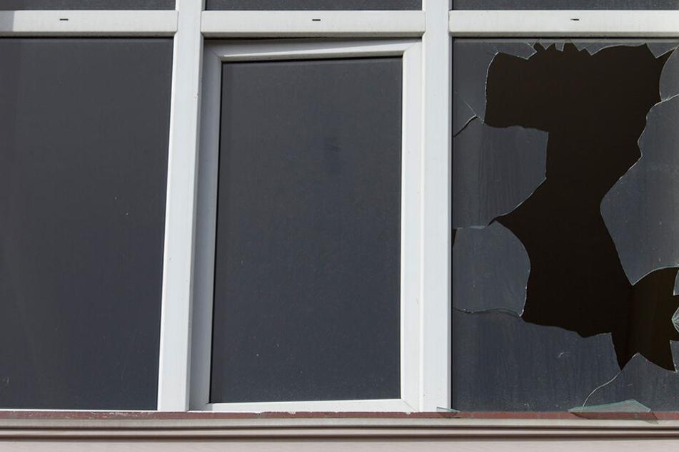 Die Einbrecher schlugen an einem Schuppen beim VfB Auerbach eine Scheibe ein. (Symbolbild)