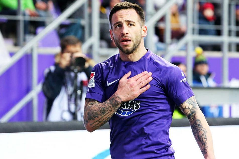 Calogero Rizzuto bleibt jetzt doch in Aue, unterschrieb bis 2021.