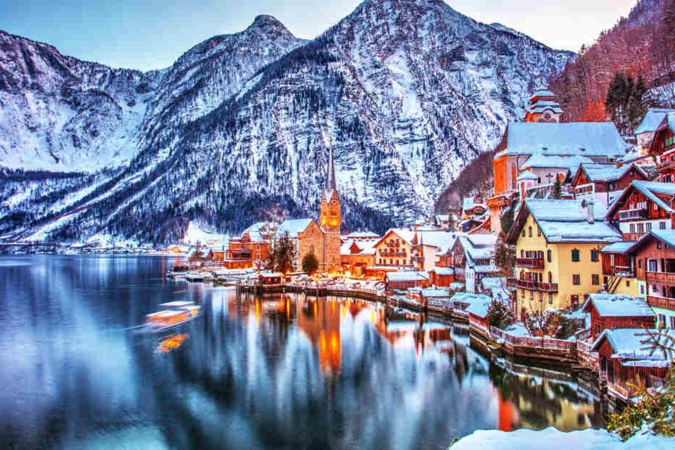 Hallstadt ist im Winter wunderbar als Film-Land Arendelle zu erkennen.