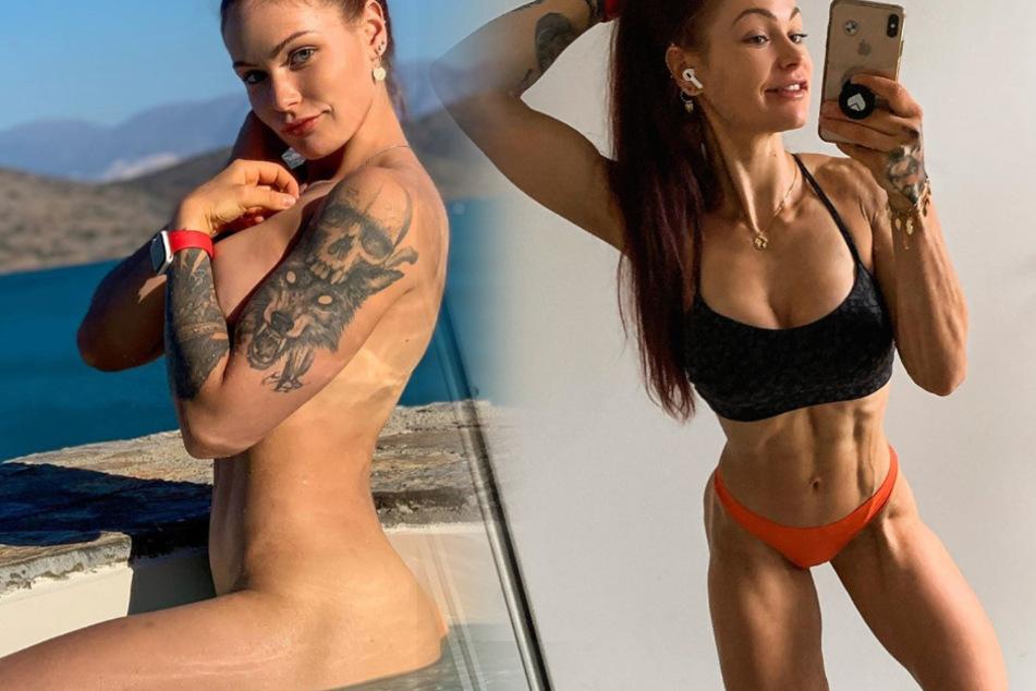 Sexy Fitness-Influencerin grinst halbnackt in die Kamera, doch es geht um was ganz anderes