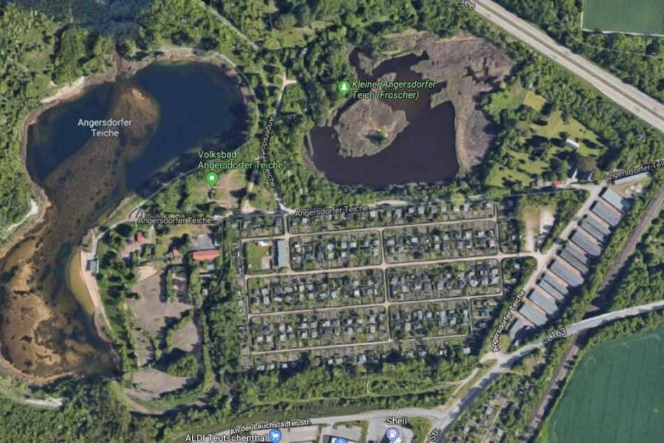 Das Lager soll im Bereich der Angersdorfer Teiche gefunden worden sein.