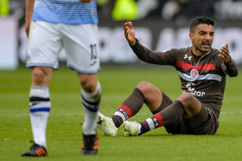 Sami Allagui war mit seiner Zeit beim FC St. Pauli nicht zufrieden.