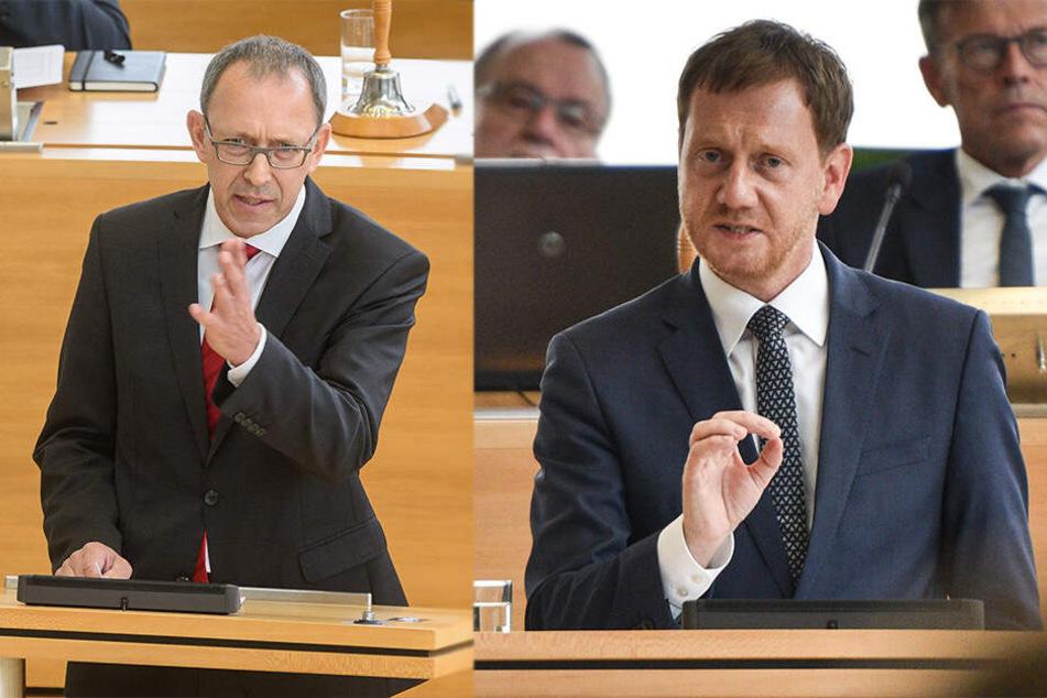 Schlagabtausch bei Landtagssitzung: So fuhr Kretschmer dem AfD-Chef in die Parade