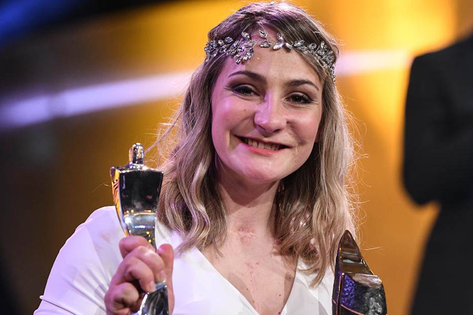 """Bei der Wahl zur """"Sportlerin des Jahres"""" wird Kristina Vogel am vergangenen Wochenende zweite."""
