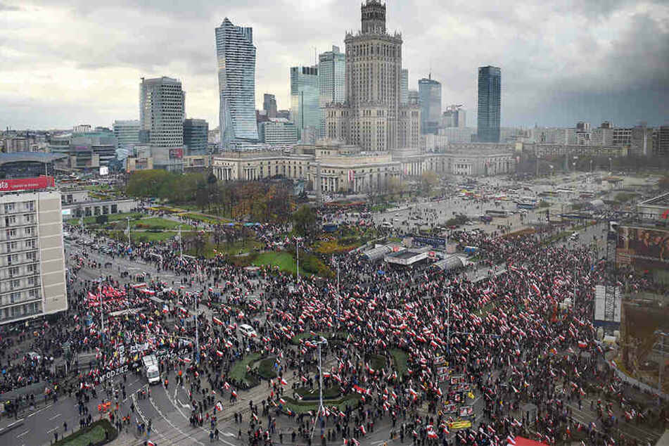 """Der Slogan des Marsches lautet """"Wir wollen Gott""""."""