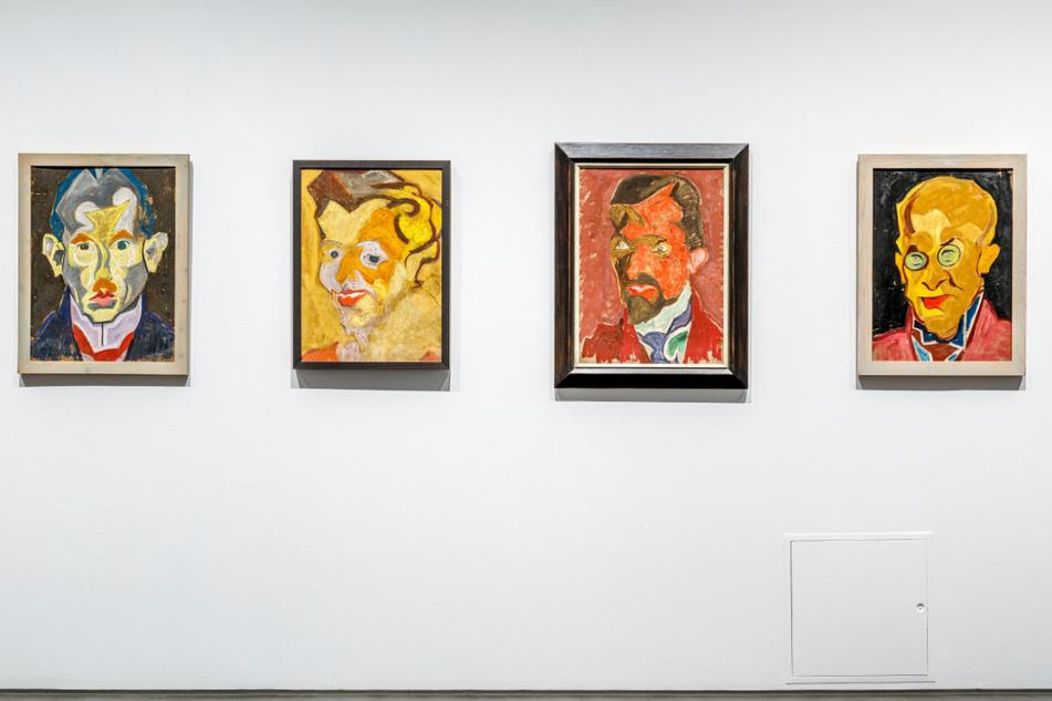 Verschiedene Werke des Expressionisten Carl Lohse.